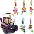 Windbells animais dos desenhos animados do presente do bebê de pelúcia multifuncionais guta tornos sinos de vento carro/cama pendurado anéis sinos newborn toys