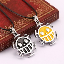 Hot anime Necklace one Piece Surgeons Trafalgar Law necklace colorful collar necklace  Men's Fashion Accessories cosplay