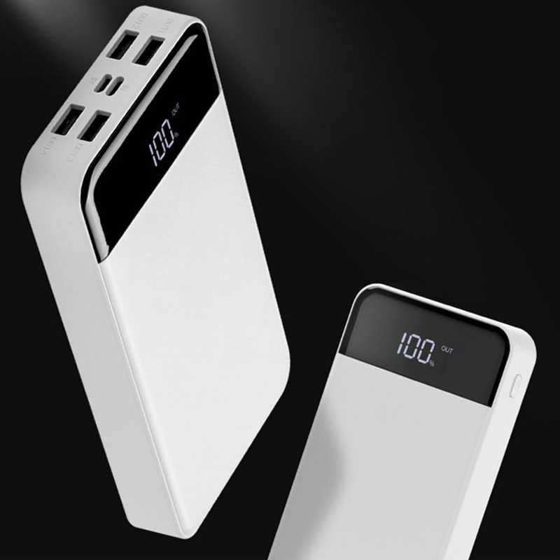 30000mAh 4USB energía móvil LCD pantalla digital carga tesoro tipo C batería externa para iPhone X Para OPPO