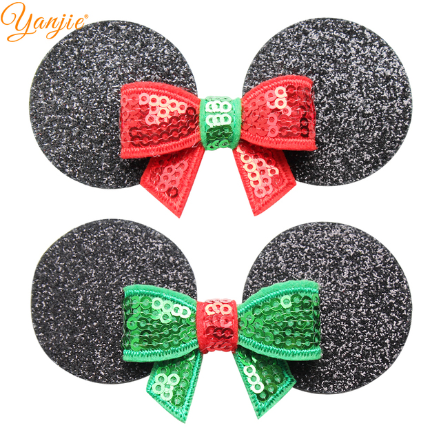 Christmas Minnie Ears 2019.Us 11 13 19 Off 12pcs Lot Cute Minnie Mouse Ears Hair Clips For Kids 2019 Christmas Girls Diy Hairgrips Headband Pads Hair Accessories For Women In