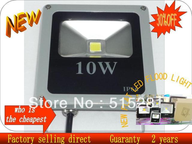 LED Flat Panel Flood Light 10W 20W 30W Outdoor Lamp IP66 Input AC85-265V Factory Sale