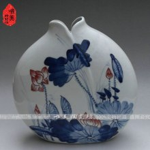 Ceramics blue and white porcelain ceramic vase fashion chinese style rustic flower