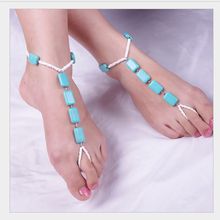 Wholesale Fashion beaded body jewelry handmade anklet