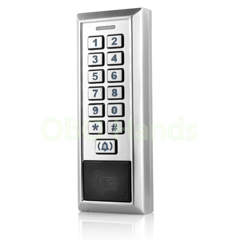 Sliver RFID Metal Door Access Control System With WG26/WG34 Input/Output Number/Digital Door Locks For Hotel/Apartment/Home-K85 with logo sliver