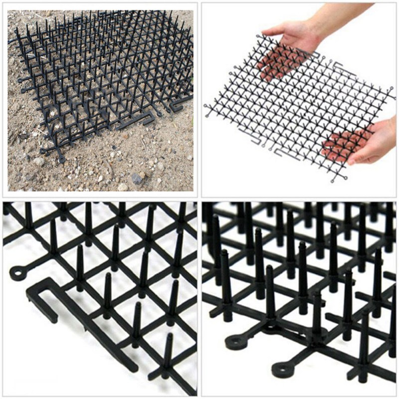 Image 5 - Garden Cat Dog Scat Mat Cats And Dogs Repellent Mat Plastic Spike Keeping Cats Dogs From Digging Flower Plant Protective Fence-in Repellents from Home & Garden