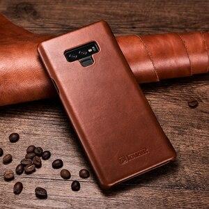 Image 3 - Slim Retro Koeienhuid Lederen Flip Case voor Samsung Galaxy Note9 Bedrijvengids Real Leather Smart Telefoon Cover voor Samsung Note8