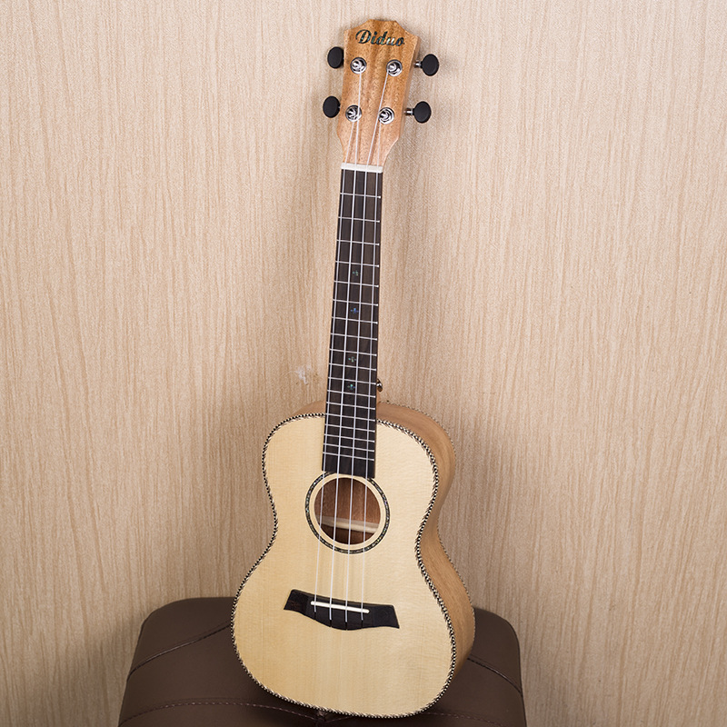 Solid Top Soprano Concert Ukulele 21 23 Inch Guitar 4 String Ukelele Guitarra Handcraft Wood Picea Asperata Mahogany Uke acouway 21 inch soprano 23 inch concert electric ukulele uke 4 string hawaii guitar musical instrument with built in eq pickup