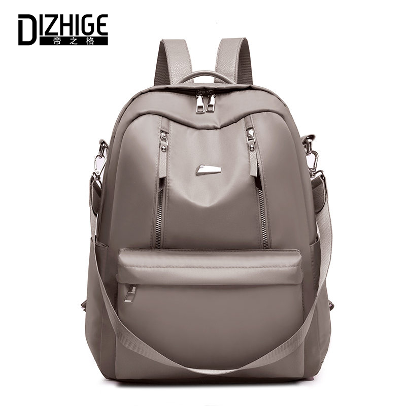 DIZHIGE Brand Luxury Waterproof Oxford Women Backpack High Quality School Bag For Women Solid Female Multifunction Travel Bags in Backpacks from Luggage Bags