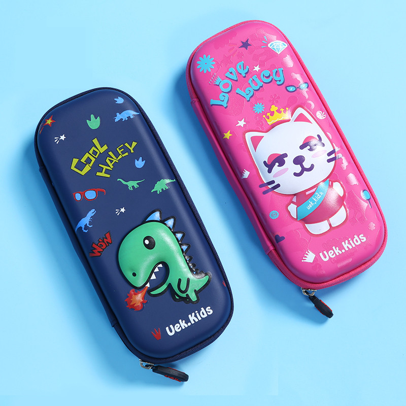Cute pencil case school EVA light primary pupils stationery bag pencil box pencil bag multifunctional dinosaur cat pencil cases 220909 school gifts boxes pupil men multifunctional creative disney child pencil box primary school student