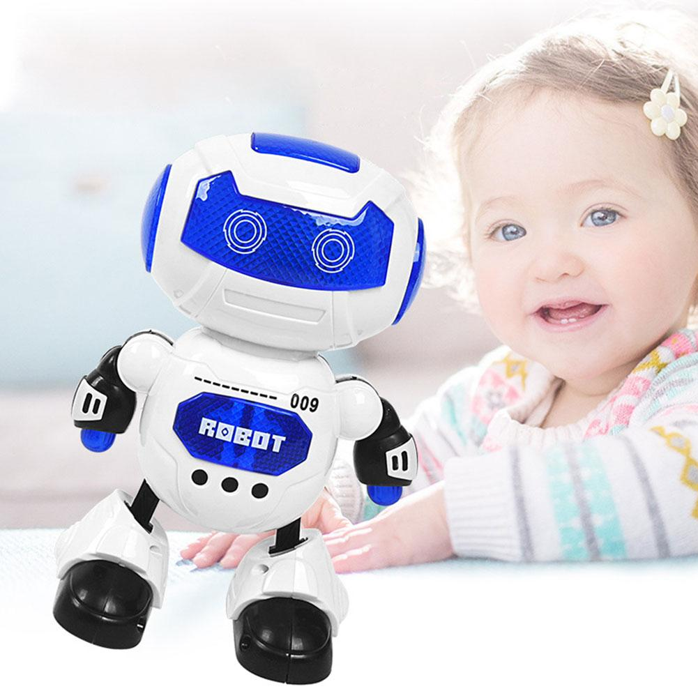 Dancing Robot Dazzling Light Music robot One-key Dance Electric Space Dancing Robot Toy Battery Toy plastic