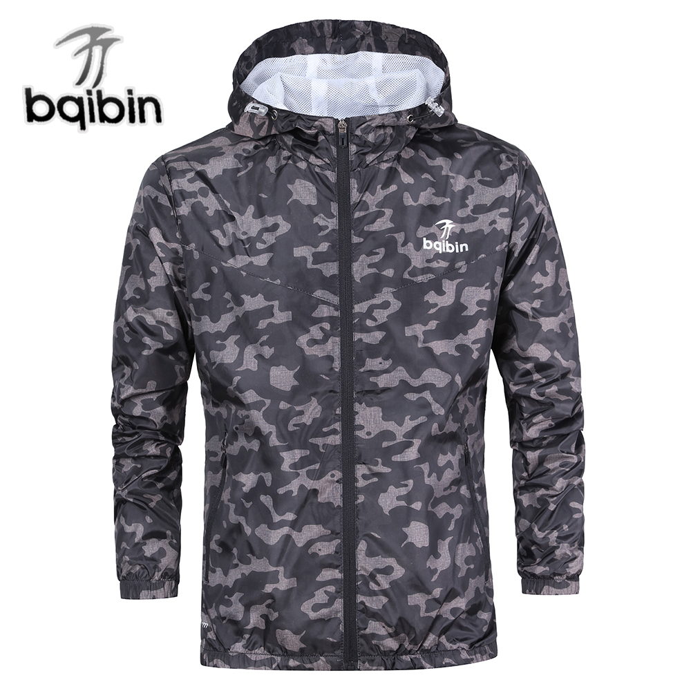 3XL Plus Size 2018 Spring Autumn Mens Casual Camouflage Hoodie Jacket Men Waterproof Clothes Men's Windbreaker Coat Male Outwear