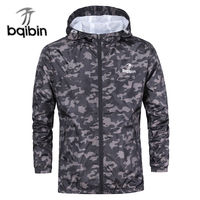 3XL Plus Size 2018 Spring Autumn Mens Casual Camouflage Hoodie Jacket Men Waterproof Clothes Men S