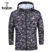 3XL Plus Size 2018 Spring Autumn Mens Casual Camouflage Hoodie Jacket Men Waterproof Clothes Men S