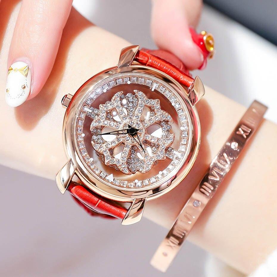 Fashion Genuine Leather Strap Women Watch Ladies Quartz Wrist Watches Relojes Mujer Luxury NAKZEN Female Gift Clock for Girls in Women 39 s Watches from Watches