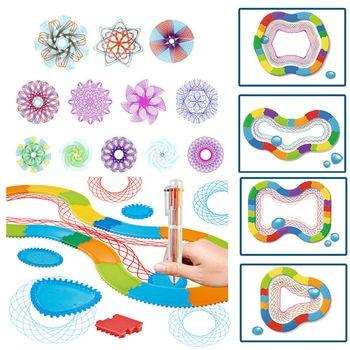 Millones Spirografía Para Estaño Juguetes Reino De Regla Flores Crear Unido Niños Diseño Original Dibujo Rieles xoeBCd