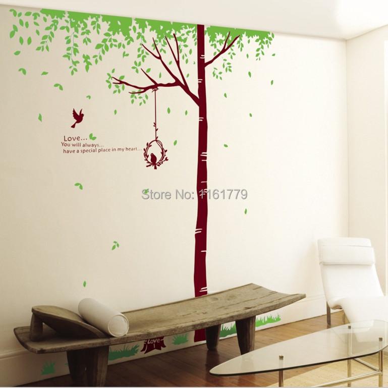 rbol grande etiqueta de la pared decoracin del hogar espejo de pared de vinilo pegatinas bao