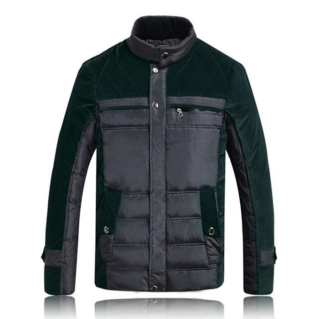 ¡ NUEVO! 2015 hombres Calientes chaqueta de invierno sólido hombres chaquetas abrigos hombre parka para hombre delgado ocasional outwear, Freeshipping MC1018