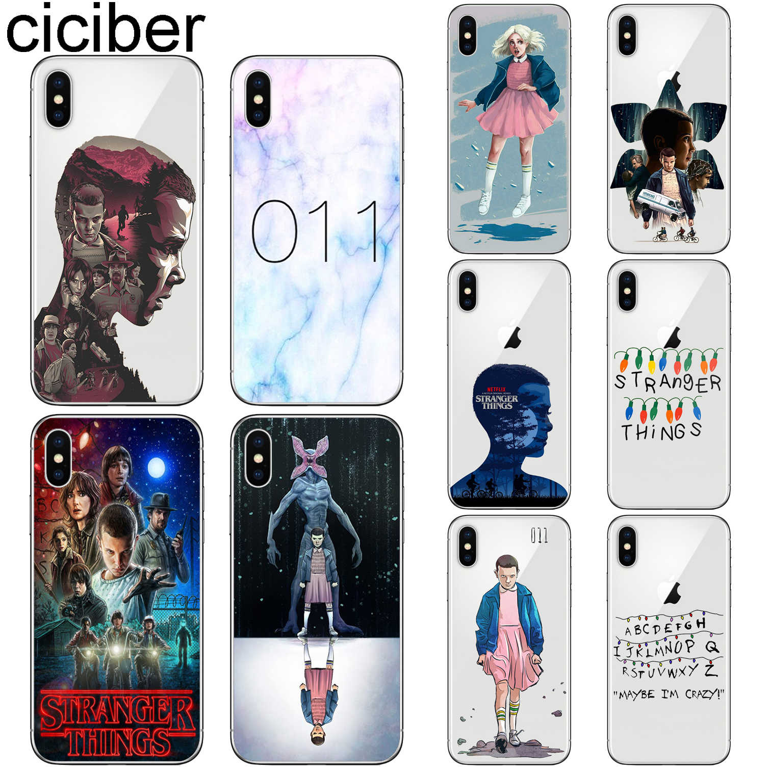 ciciber Stranger Things Cover Funda for Iphone 7 8 6 6S Plus 5S SE 11 Pro Max Soft TPU Phone Case for Iphone X XS MAX XR Coque