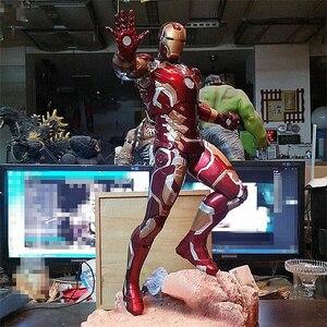 50 см Мстители 3 Infinity War Железный человек MK43 фигурка куклы игрушки статуя из смолы фигурка Коллекционная модель игрушки подарок