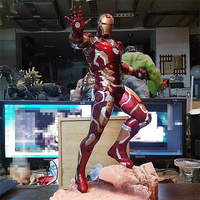 50CM Avengers 3 Infinity War Iron Man MK43 Figurine Dolls Toys Resin Statue Bust Action Figure Collectible Model Toy Gift
