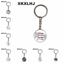 XKXLHJ Fashion merci maitresse Long chain key Pendant car ring holder charms I am a mistress silver color keychain jewelry