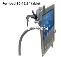 Ipad security clamp tablet lock holder display stand with gripper tube mount on wall or desktop for 10 to 12 inch tablet pc stand display stand for tablet pc stand for tablet -