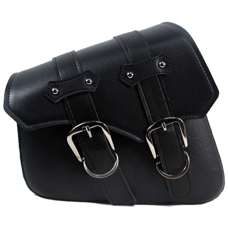 2 Pieces Universal PU Leather Motorcycle Saddle Bags Cruiser Side Storage Tool Pouches For Harley Sportster XL883 XL1200