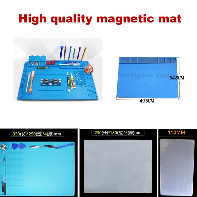 S-160 big Heat Insulation Silicone magnetic Pad BGA Soldering Repair Station Maintenance Platform with Screw Mat Section