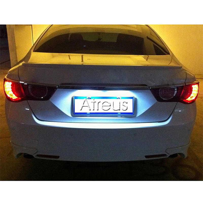 Atreus 2X Автомобильный светодиодный Подсветка регистрационного номера 12 V авто-Стайлинг для Toyota Land Cruiser 98-07 Prado J120 Reiz 4D Mark X Lexus LX470 LX570