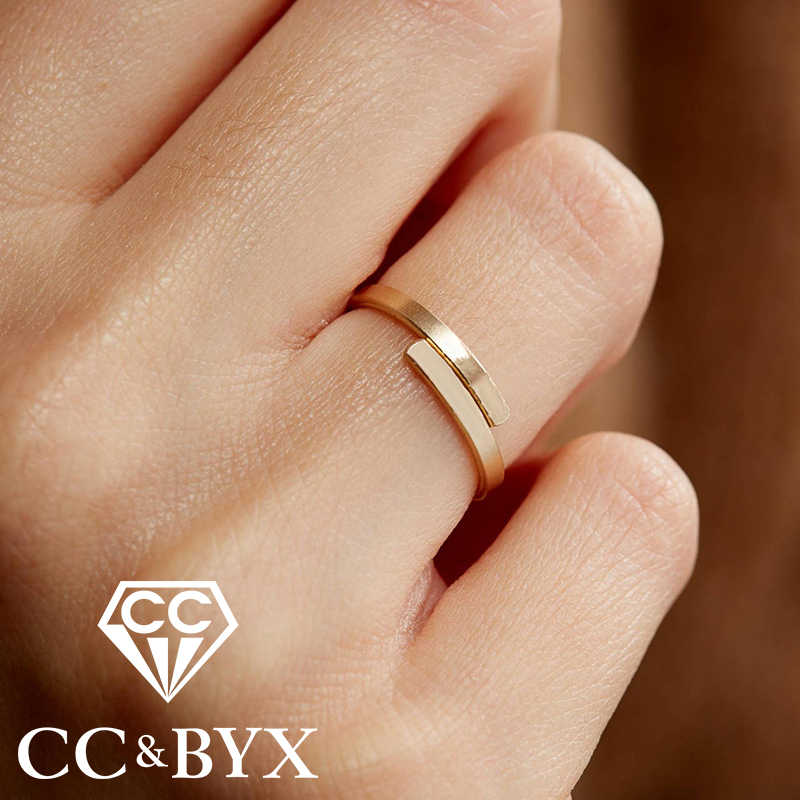 CC Simple Dainty Finger Rings for women Super Mistress Thin Adjustable Midi Stainless Steel Ring Knuckle Ring Trinkets