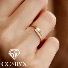CC עדינה פשוטה אצבע טבעות לנשים סופר פילגש דק מתכוונן Midi נירוסטה טבעת Knuckle טבעת תכשיטים זולים