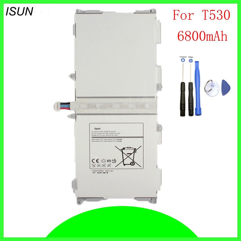 ISUN Original 6800mAh Battery for Samsung Galaxy Tab 4 10.1 SM-T530 SM-T531 SM-T535 EB-BT530FBC EB-BT530FBU with repair tools