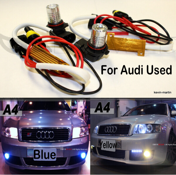 Free shipping LED car-styling Fog Lights White LED for Audi A3 2013-2006 No OBC Error. No Bulb-Out Warning Message, Guaranteed car led 1pcs t10 194 w5w dc 12v canbus 6smd 5050 silicone shell led lights bulb no error led parking fog light auto car styling