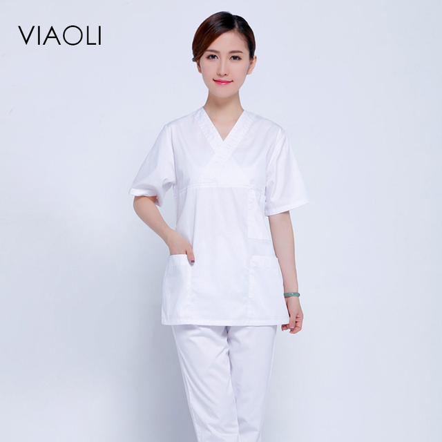 Viaoli Hospital Man and Woman Surgical Gown Doctor Uniform Short ...