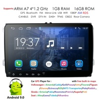2 din 9'' Android 9.0 RDS AM Car Radio Stereo GPS Navi forVW Passat B6 CC Polo GOLF 5 6 Touran J etta Tiguan Magotan Seat DAB 4G