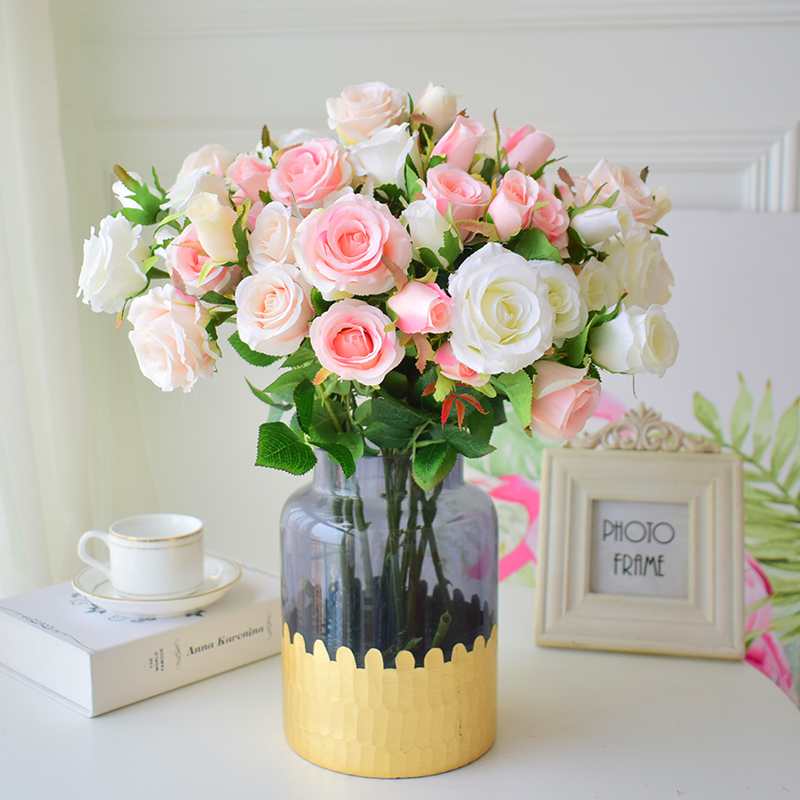 12Pcs Artificial Flower for Wedding Silk Sunflower Fake Home Decor Party Garden