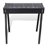 Outdoor Stove Camping Grill BBQ Stand Barbecue Grill Durable Steel Camping Hiking Cooking Picnics Parties Baking Grill 75 X 28cm