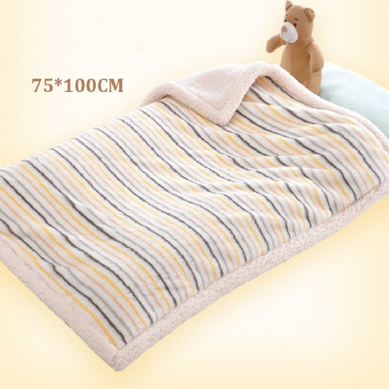 High Quality Baby Blanket Newborn Baby Thicken Cotton Fleece Blankets Infant Swaddle Envelope Warm Soft Bebe Bedding Blankets