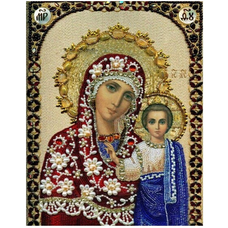 mosaic embroidery Full diamond religious Red Lady of Jesus icons Crafts cross stitch kits New diy 5d diamond painting
