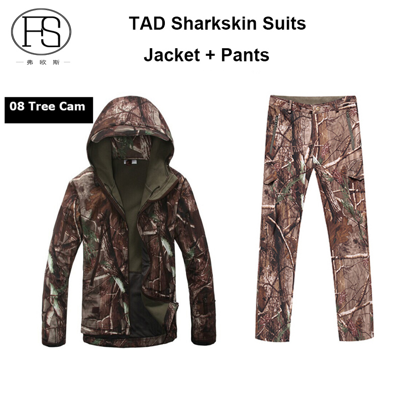 TAD Softshell Sharkskin Suits Men Outdoor Waterproof Hunting Clothes Fleece Lining Jacket Military Camping Gear & 2015 softshell 003