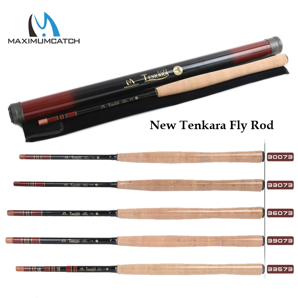 Maximumcatch 10/11/12/13FT (3/3.3/3.6/3.9M) Tenkara Telescoping Fly Fishing Rod Graphite IM10 Carbon Tenkara Fly Rod