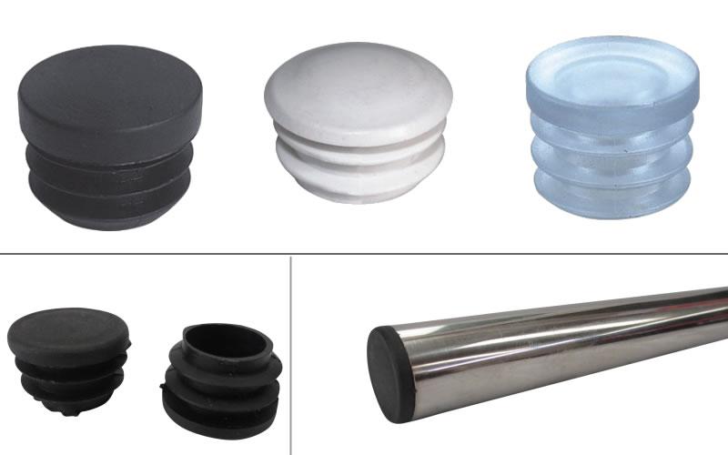 uxcell 5Pcs 50mm Inner Dia PE Plastic End Cap Bolt Thread Protector Tube Cover