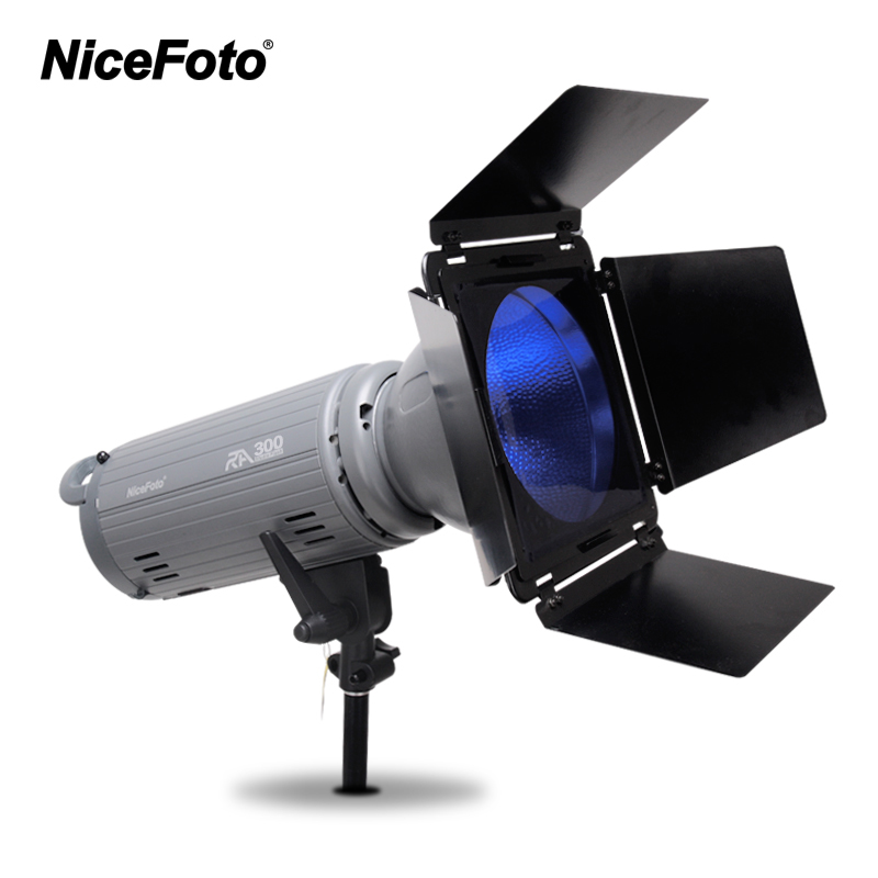 NiceFoto photography lights RA-300 300W Studio Flash Built-in 2.4GHz remote control fast recycling time wedding clothing shoot
