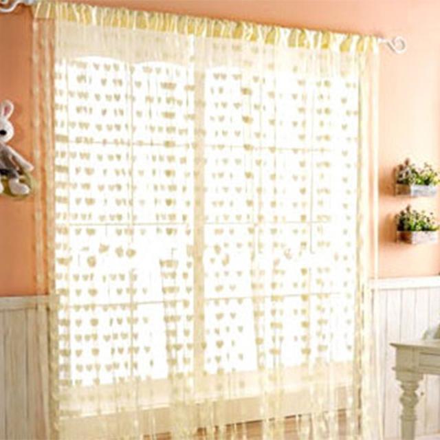 Home & Kitchen 200cm x 100cm Silk String Curtain blinds Window Door Divider Sheer Curtains Valance Window kitchen curtains