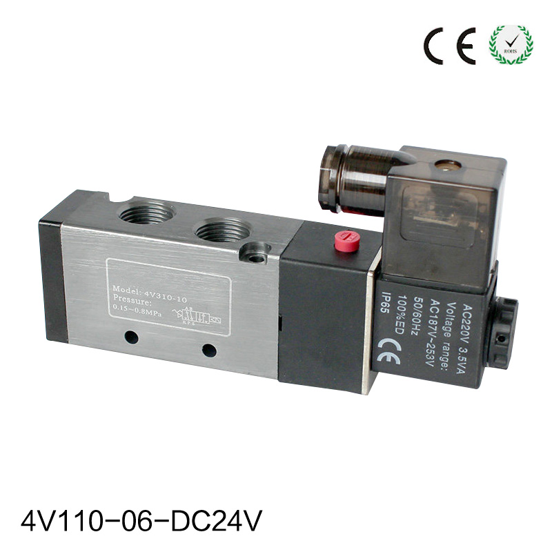 1/8 Air Valve 4V110-06 DC 24V Solenoid Control Valve Smart Pneumatic Valve for Air Systems