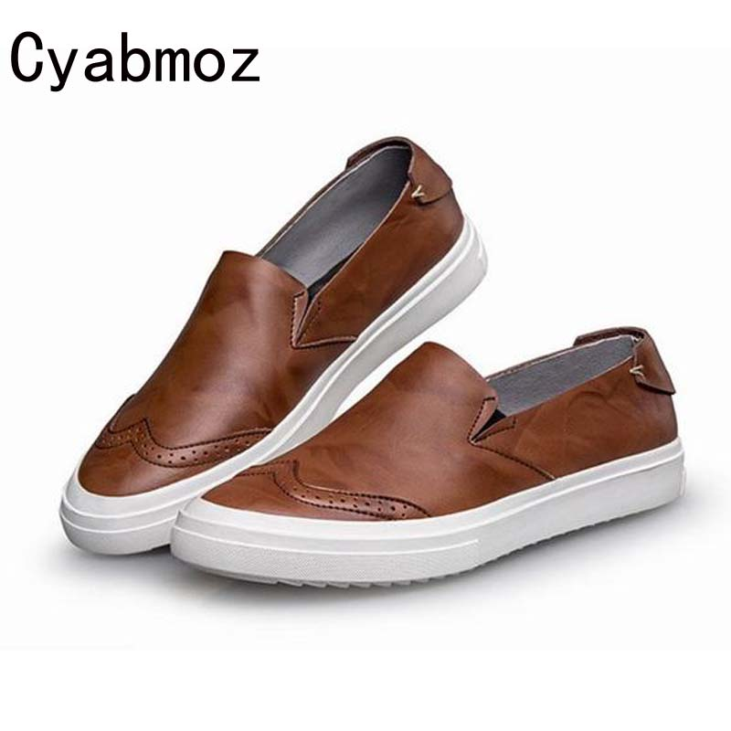 New 2017 High Quality Genuine Leather Men's Casual Flats Shoes Slip-on Bullock Retro Man Oxfords Driving Shoes Sapatos Masculino dxkzmcm new men flats cow genuine leather slip on casual shoes men loafers moccasins sapatos men oxfords