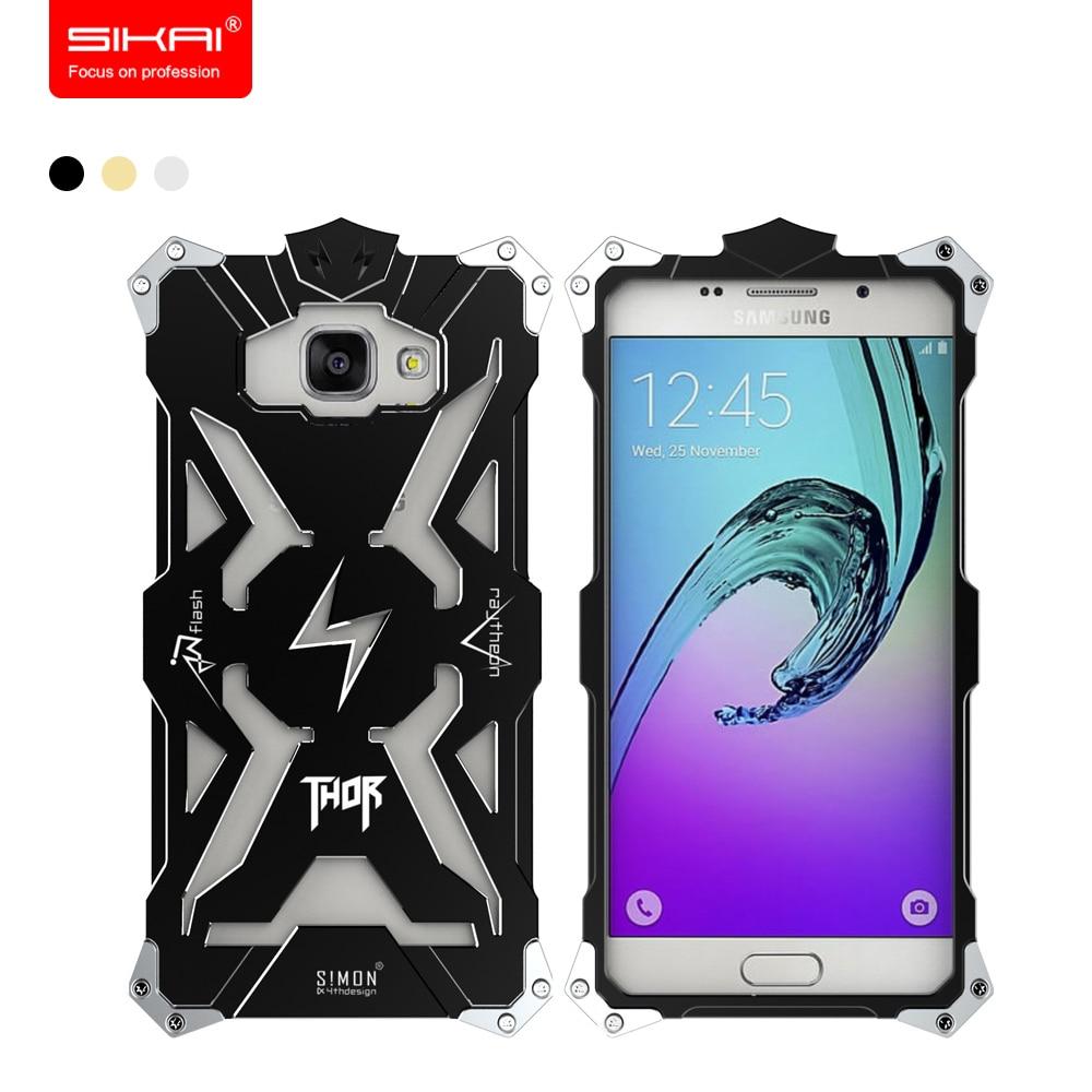 imágenes para SIKAI Fresco Armadura Del Metal Para la Galaxia A5 2017 Funda De Aluminio Frontera Cubierta Protectora Para Samsung Galaxy J3 2016