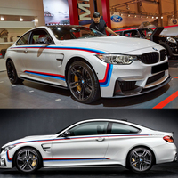 Car Decoration Stickers Car Racing Stripes Decal Camouflage Vinyl Stickers Auto Door Sticker Suit For Ford Foucs Mazda BMW Audi
