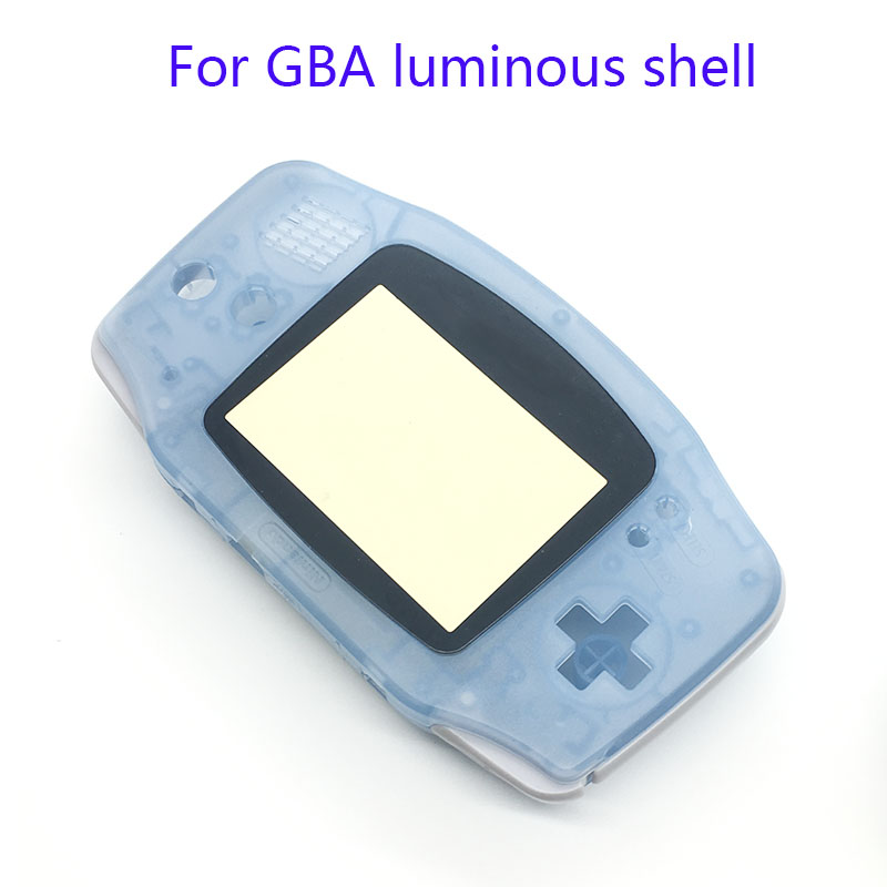 For Gameboy Advance Glow in the Dark Noctilucent Plastic Shell Case Housing Screen lens For GBA Luminous Cover Green & Blue