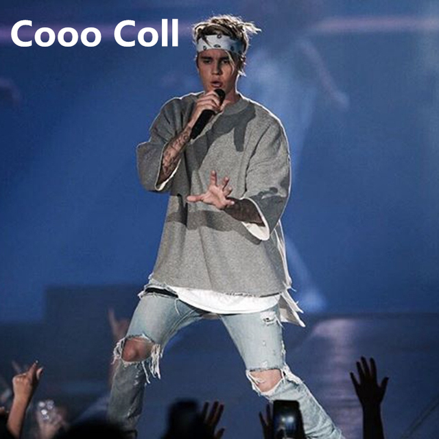 Fashion Brand Hot FOG Fear of God Justin Bieber Kanye West T-shirts Oversize T shirt Free Shippin tops Tee Cooo Coll
